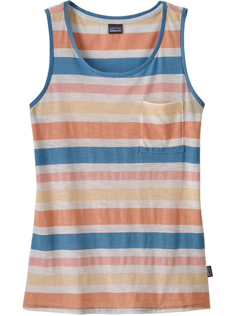 Patagonia W's Mainstay Tank Water Ribbons/Port Blue